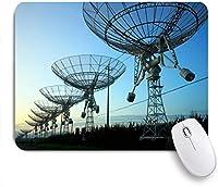 VAMIX マウスパッド 個性的 おしゃれ 柔軟 かわいい ゴム製裏面 ゲーミングマウスパッド PC ノートパソコン オフィス用 デスクマット 滑り止め 耐久性が良い おもしろいパターン (天文台の夜の信号のシルエットアンテナ電波望遠鏡産業用星雲)