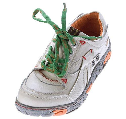 TMA Comfort Damen Sneakers Leder Schuhe Weiß Turnschuhe Schnürer Halbschuhe Gr. 36
