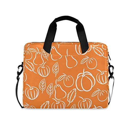 Abstract Fruits Pattern Orange 16 inch Laptop Shoulder Bag Travel Laptop Briefcase Carrying Messenger Bags