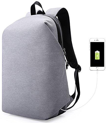 MUFUBU Presents Kaka Anti Theft Laptop Backpack with USB Charging Port - Grey