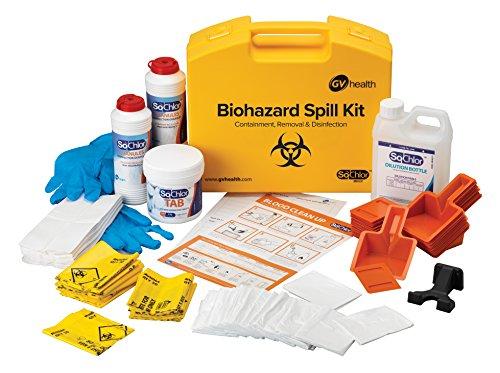 GV salud y fluido corporal Biohazard Multi derrame Kit–Pack de 25