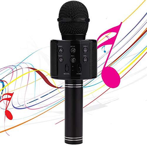 karaoke mikrofon karaoke mikrofon für kinder,Tragbare Handheld-Spielzeug-Karaoke-Mikrofonlautsprechermaschine, Heim-KTV-Player mit Aufnahmefunktion, kompatibel mit Android-iOS-Geräten