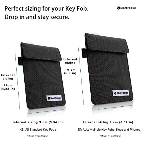 Silent Pocket Signal Blocking Faraday Key Fob Case - Car Anti Theft Device Shielding Against All...