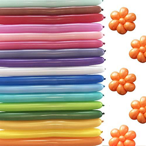 100 Long Balloon Animals Balloons Plus Bonus Balloon App | Balloon Animal kit for Balloon Creation, Twisting Animal Balloons Comes Packed Nozzle up by BalloonPlay