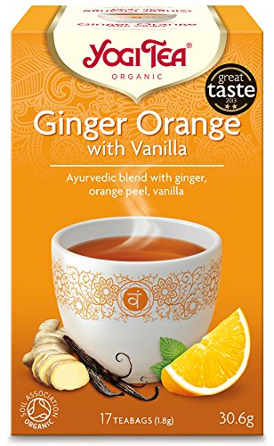 Yogi Tea Ginger Orange with Vanilla 17 Teabags (Pack of 6, Total 102 Teabags)