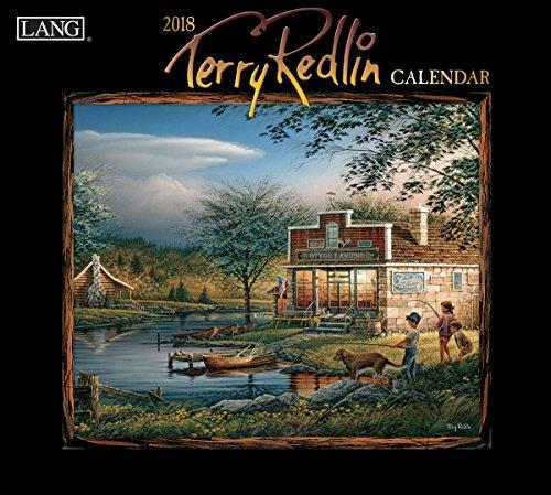 """LANG - 2018 Wall Calendar -""""Terry Redlin"""", Artwork by Terry Redlin - 12 Month: Open Size, 13.34"""" X 24"""""""