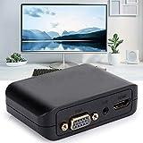 Eosnow Adaptador Compacto y liviano Adaptador de Pantalla Dual HDMI para Windows 10/8/7(Black)