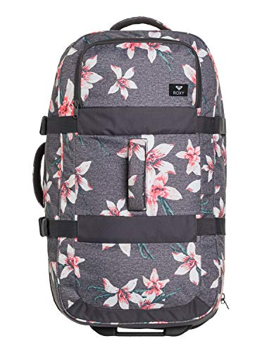 Roxy In The Clouds Maleta Grande con Ruedas, Mujer, Rosa/Gris (Charcoal Heather...