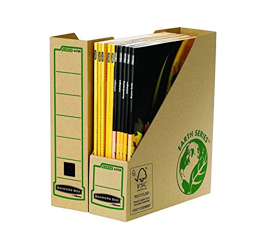 Bankers Box Earth Series - Revistero, A4, lomo 80 mm, marrón
