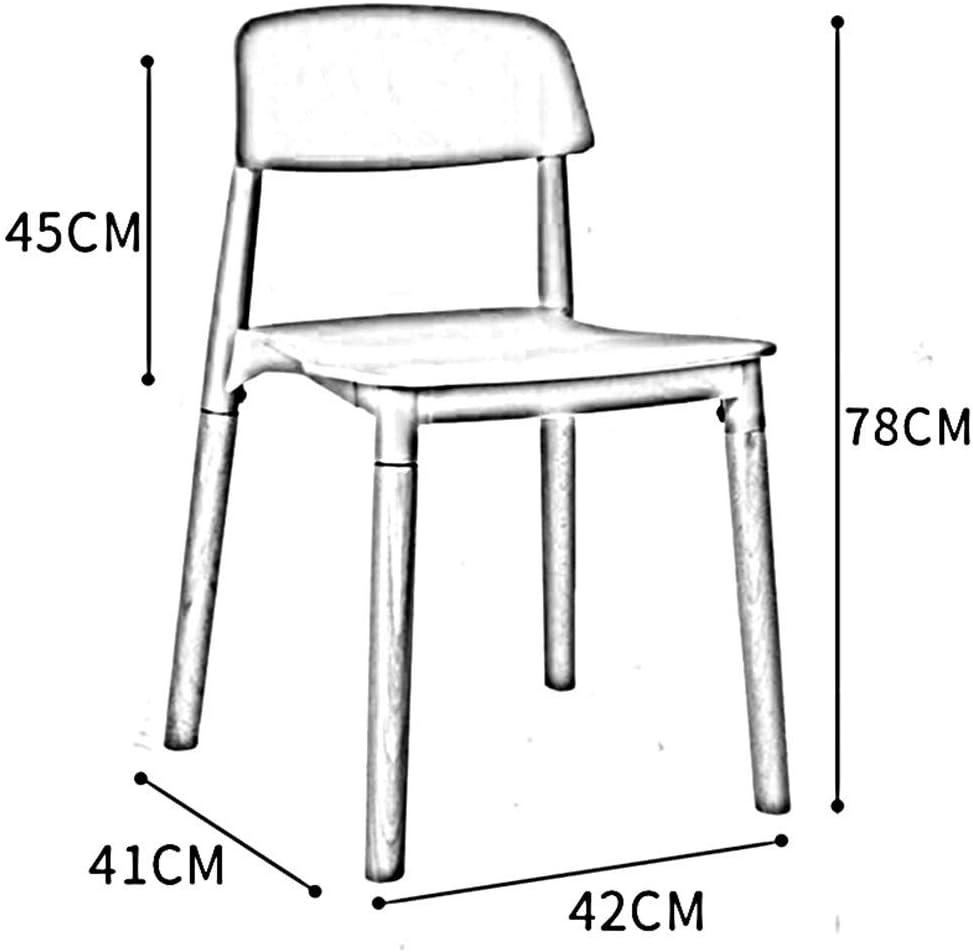 chaise FHW Cuisine Bureau Salon Salle de Plastique Siège en hêtre Bois Jambes de Vie Confortable Expérience Simple en Plastique Accueil Assemblée + Hêtre (Color : White) Green