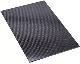 LIUHUA 3K Full Carbon Fiber Sheet - Twill Weave Matte Surface-250x600mm-2mm