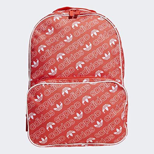 adidas Sac à dos Santiago unisexe Taille unique Monogramme rouge vif/blanc.