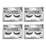 Ardell False Eyelashes 3D Faux Mink 852, 4 pairs