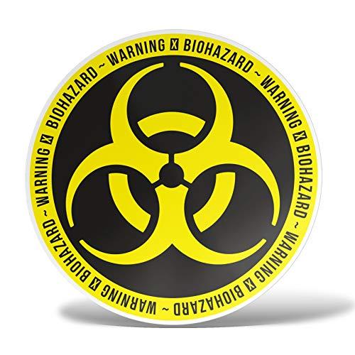ERREINGE Sticker BIOHAZARD NUKLEAR SYMBOL RADIOAKTIV Aufkleber geformtes PVC für Abziehbild, Wand, Auto, Motorrad, Sturzhelm, Wohnmobil, Portable, Roller - cm 15
