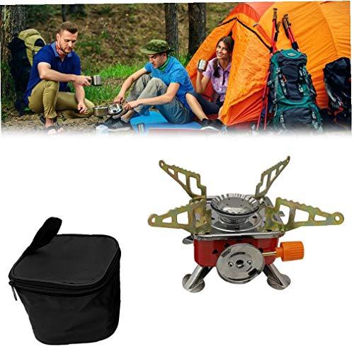 xuew En Forma de Cuadrado de Cassette Horno, Estufa portátil de Palm Gas Multifunctioanl Barbacoa Cocina de Gas para Camping al Aire Libre