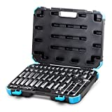 Capri Tools 3/8-Inch Drive Master Socket Set with Ratchets, Adapters and Extensions, 52-Piece (CP12320)