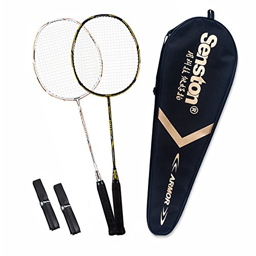 Senston Badminton Racket Set S-300 Graphite Full Carbon Badminton Racquet...