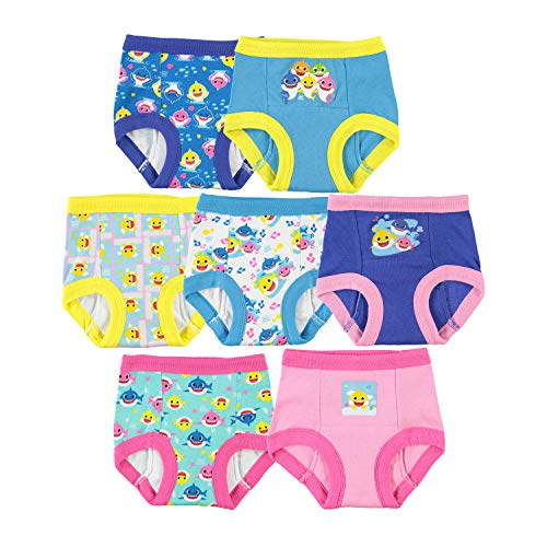 Baby Shark Baby Potty Training Pant Multipacks, Shark Pink 7pk, 2T