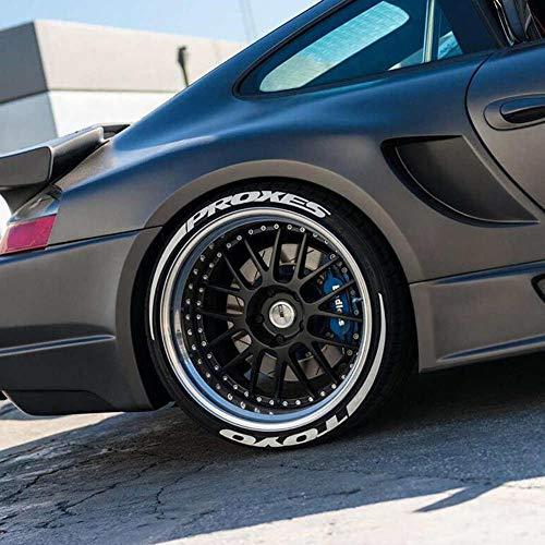 Kitabetty Etiquetas engomadas del neumático del coche, Pegatinas de letras de neumáticos Kits de pegatinas de ruedas de coche, Etiqueta de rueda de neumático de coche personalizada