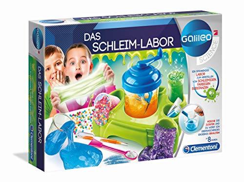 Clementoni 59129 Galileo Science – Das Schleim-Labor, lustige Experimente mit bunten Substanzen und Glibber, Spielzeug für Kinder ab 8 Jahren, für kleine Chemiker