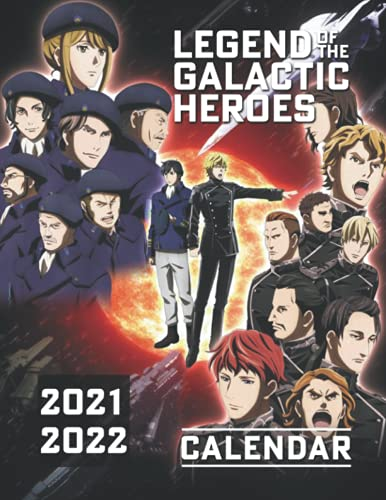 Legend of the Galactic Heroes: 2021.2022 Anime/Manga Calendar with Big Size - High Quality Images