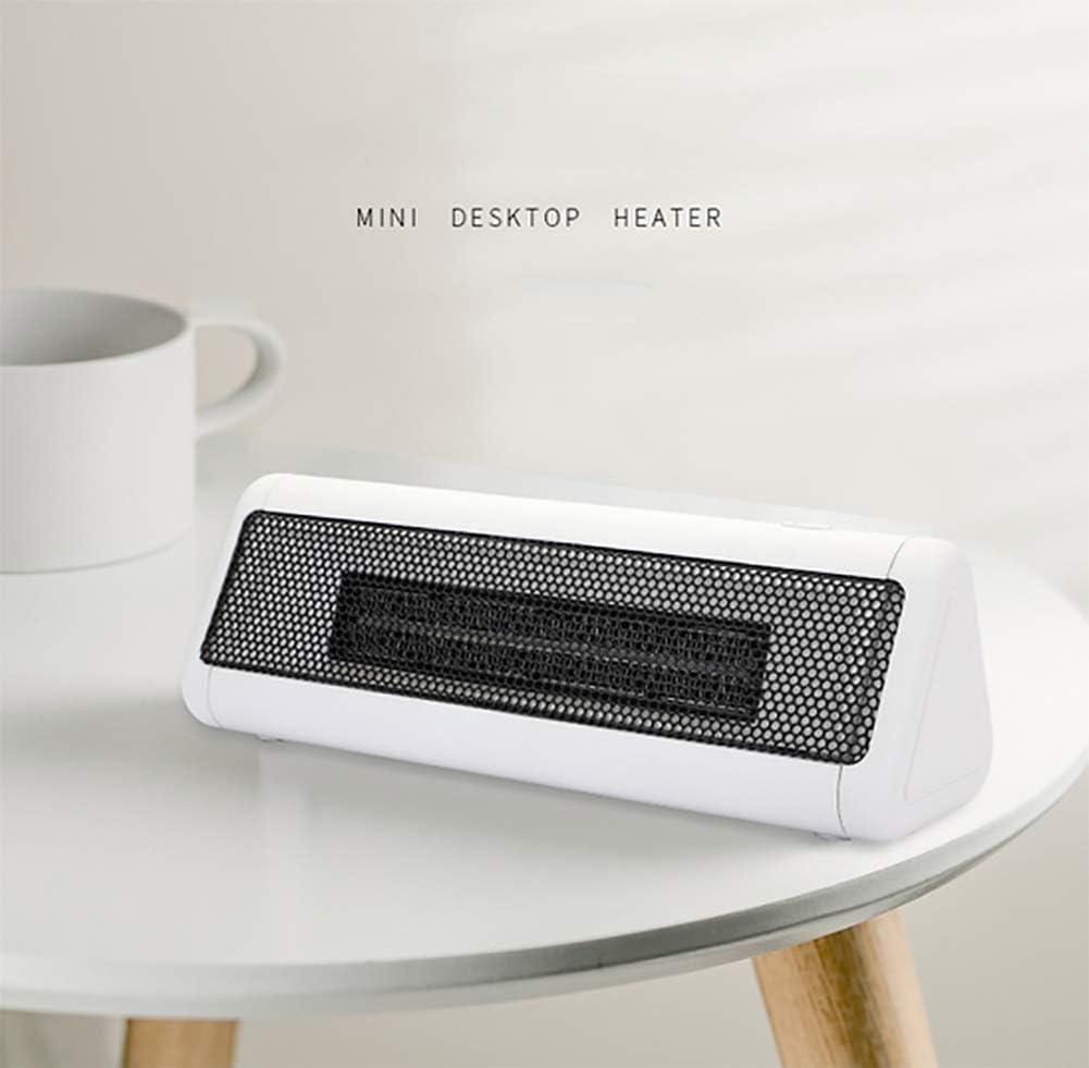 HLJ Kleine huishoudelijke apparaten 300W Mini Electric kachelventilator Heater met oververhitting en Tilt Bescherming Rustig en Portable for H (Color : Red) White