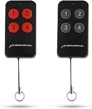 XCSOURCE 2Pcs 433Mhz Key Fob Cloning Remote Control Copy Duplicator for Electric Gate Garage Door Switch IC 2260 2262 5326 527 1527 2240 SMC918 PT2264 SC5262 HT6010 GT6012 HT6014 HT600 HT680 XC503