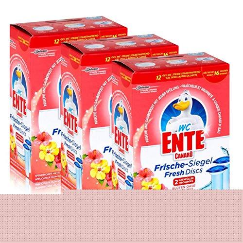 3x WC Ente Frische Siegel Nachfüller Blüten Oase