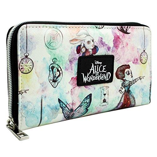 Alice In Wonderland Attraverso lo specchio Bianca Portafoglio