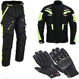 Schwarze Motorradjacke mit Protektoren, Belüftungssystem, Klimamembrane und herausnehmbarem Thermo...