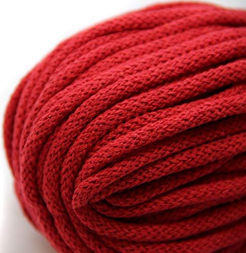 NTS Nähtechnik 50m Baumwollkordel mit Kern 6mm breit (rot)