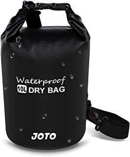 JOTO Dry Bag Sack Backpack 10L Waterproof Dry Bag for Outdoor Activities - Perfect for Boating,  Kayaking,  Fishing,  Rafting,  Hiking,  Swimming,  Floating,  Camping [ 10L Floating Dry Bag ] (Black)