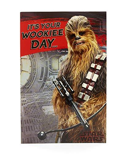 Verjaardagskaart - Star Wars Verjaardagskaart met Chewbacca, Ideale Cadeaukaart - Star Wars Episode 8