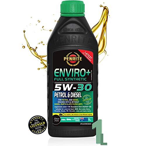 Penrite ENVIRO+ 5W30 Aceite de Motor Totalmente Sintetico | Aprobado por V.W 504 00/507 00 | Servicio de Garantía Para Volkswagen Audi Skoda Seat | Gasolina GLP E10 Diesel | Con y Sin DPF (1 Litro)