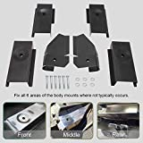 NIXFACE Full Tub Body Mount Repair Kit Replacement for Jeep Wrangler TJ 1997-2006 (Front Rear Middle)