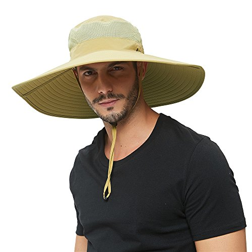 Super Wide Brim Sun Hat-UPF 50+ Protection,Waterproof Bucket Hat for Fishing, Hiking, Camping,...