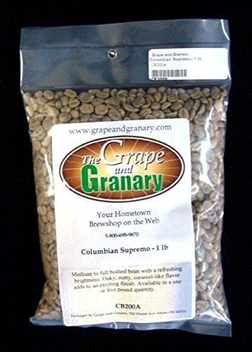 Colombian Supremo unroasted Coffee Beans (1LB)