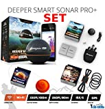 Deeper Smart Sonar Pro+ Set WiFi + GPS + Smartphone Halterung + Night Fishing Cover