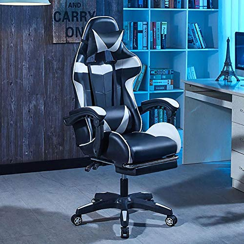 YZHY Racing Sport Gaming Chair Chesterfield Ergonomisch draaibare bureaustoel met rugleuning hoge heavy duty Home Office Computer Desk