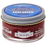 [エム・モゥブレィ] シューケア 靴磨き 栄養 保革 補色 ツヤ出しクリーム シュークリームジャー レッドブラウン 50ml