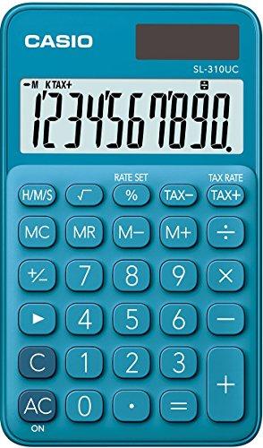 Casio SL-310UC-BU Calcolatrice Tascabile, Blu