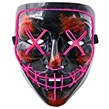 heytech Halloween Scary Mask Cosplay Led Costume Mask EL Wire Light up for Halloween Festival Party 112