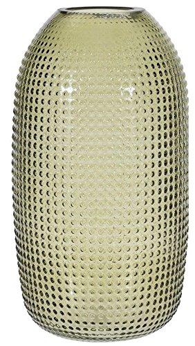 Koop Grande Bouche Large 40 cm de Haut en Verre Vert Fleur Vase en Verre moucheté