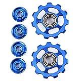 VORCOOL Rueda de desviador trasero azul 2pcs 11T rueda de desviador de ruedas jockey para Shimano