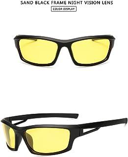 GR New Sports Men's Polarized Sunglasses Outdoor Riding Night Verson Glasses for Night Windshield Sunglasses UV400 Prevent Glare (Color : Yellow)