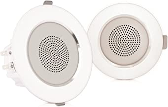"""Pyle Pair 3.5"""" Flush Mount In-wall In-ceiling 2-Way Home Speaker System Aluminum Housing Spring Loaded Clips Dual Polypropylene Cone Polymer Tweeter Stereo Sound 140 Watts (PDIC35)"""