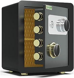 LLRYN Safe Box Strongbox Safes Mechanical Password Safe, Household Small Bedside Safe Deposit Box Office All Steel Insuran...