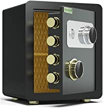 JBAMQ Safe Box Strongbox Safes Mechanical Password Safe, Household Small Bedside Safe Deposit Box Office All Steel Insuran...
