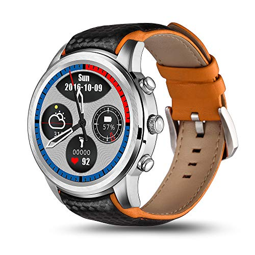 ALXDR LEM5 Pro Smart Watch 2GB + 16GB Memoria WiFi 3G Red GPS Fitness Tracker con Monitor de Ritmo cardíaco, Android 5.1,Gray