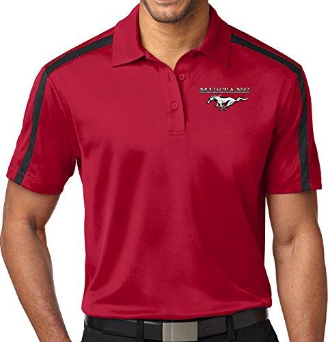 Mens Ford Mustang Pocket Colorblock Stripe Polo Shirt (Pocket Print), Extra...
